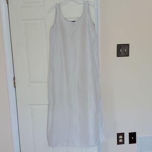 Eileen Fisher linen/silk maxi dress